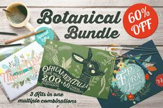 Check out Botanical Bundle 60% Off by Mia Charro on Creative Market