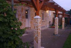 Mediterrane Traumterrasse mit Natursteinen von Liset