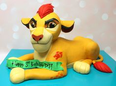 The best Lion Guard birthday cake for the best 3 year old! Lion Guard Birthday Cake, Custom Cakes, 4th Birthday, Icing, Urban, 3d, Disney, Creative, Party
