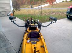 Field and Stream Eagle talon fishing kayak. I added a rod holder/stabilizer system.