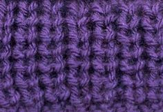 The Half Fisherman's Rib stitch has more texture and more voluminous than its older relative, the Fisherman's Rib though not as stretchy. This stitch is not reversible and is very puffy. Knit Purl Stitches, Knitting Stiches, Loom Knitting, Knitting Patterns, Knitting Ideas, Knitting Help, Knitting For Beginners, Fishermans Rib, How To Purl Knit