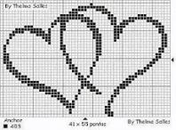 Step-by-Step Embroidery: Romantic Cross Stitch Graphics Wedding Cross Stitch, Cross Stitch Heart, Beaded Cross Stitch, Cross Stitch Embroidery, Embroidery Letters, Cross Stitch Designs, Cross Stitch Patterns, Tapestry Crochet, Knitting Charts