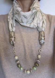 Every day, millions of people shop for jewelry. Jewelry is popular among all age groups and genders. Though many people buy jewelry Scarf Necklace, Fabric Necklace, Scarf Jewelry, Textile Jewelry, Fabric Jewelry, Tissu Neoprene, Moon Jewelry, Scarf Design, Scarf Styles