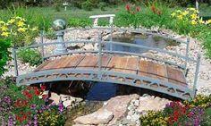Backyard Pond Designs with Bridge   Garden-Bridges - Types of Bridges - Landscape Bridges - Bridge Design