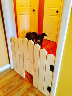 Pet Security Gate - Barn Door Baby Gate - Made To Fit - Barn Door Pet Gate - Reclaimed Wood - Wooden Baby Gate - Baby Gate  -  Pet Gate by LumberLovin on Etsy https://www.etsy.com/listing/467343269/pet-security-gate-barn-door-baby-gate