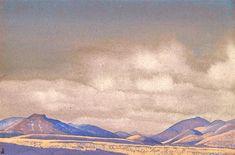 Mongolia. Chakhar hills., 1936 by Nicholas Roerich. Symbolism. landscape