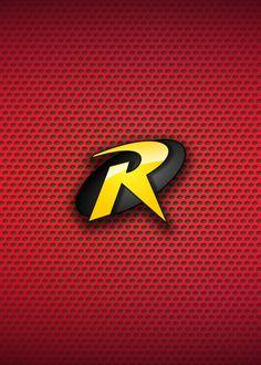 Robin Logo, Robin Dc, Nightwing Wallpaper, Avengers Wallpaper, Superhero Wall Art, Superhero Logos, Dc Comics, Drake Wallpapers, Teen Titans Robin