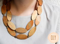KAAM {hand-made}: d.i.y wooden necklace