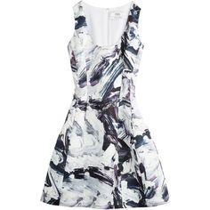 PRABAL GURUNG Printed Cocktail Dress (€1.765) found on Polyvore