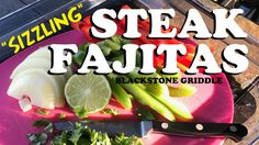 I've recorded another cooking recipe on the Blackstone Griddle, this time it was a delicious . Grilled Steak Recipes, Grilling Recipes, Snack Recipes, Cooking Recipes, Blackstone Grill, Beef Flank Steak, Griddle Recipes, Steak Fajitas, Crockpot Dishes