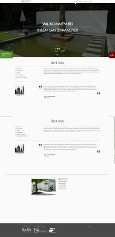Gartenmacher Niedermeier Corporate Website, 2013
