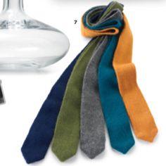 Knit ties. MSL.