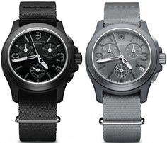 Swiss Army Original Chronograph Watches, Loving that gray/sliver
