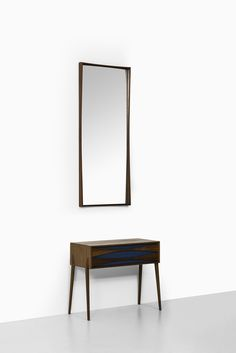 Rare side table with mirror at Studio Schalling