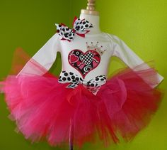 Queen of Hearts Valentine Tutu Set for Cindel's birthday ...I could make the shirt for her at work
