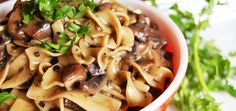 Autumn Mushroom Stroganoff #MeatlessMonday