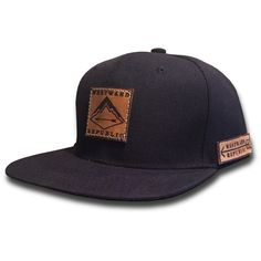 The Westward. Unique Handmade Leather Patch Design. Comfortable fit Outdoor Inspired Style Adjustable Snapback - one size fits most (adult sizes) JOIN THE REPUBLIC, WEAR WESTWARD.