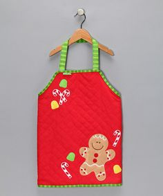Take a look at this Gingerbread Quilted Apron by Stephen Joseph on #zulily today!