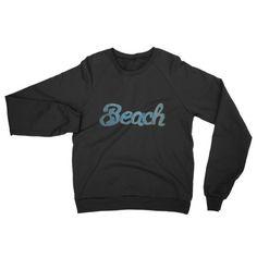 Beach Neon Distressed Grunge Unisex Men's Fleece Raglan Cotton Mens sweater