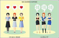 En images, les différences entre les hommes et les femmes…