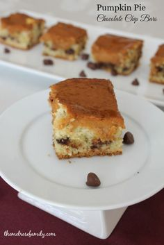 Pumpkin Pie Chocolate Chip Bars