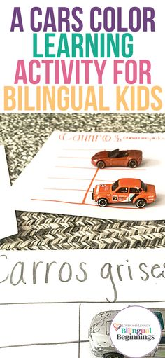 Cars Color Learning Activity for Bilingual Preschoolers With Free Printable Template  To facilitate this activity, I have created a free printable template in Spanish that you can print and use. There is also a blank template where you can write your colors if you want to do this activity in English or any other language. #colorlearningactivities #colorlearningactivitiesfreeprintable #colorlearningactivitiesfortoddlers #colorlearningactivitiesforpreschoolers #funcolorlearningactivities Toddler Fine Motor Activities, Outdoor Activities For Toddlers, Autumn Activities For Kids, English Activities, Kids Learning Activities, Infant Activities, Toddler Preschool, Toddler Crafts, Kids Crafts