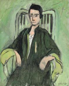 Renée, Green Harmony, 1923 - Henri Matisse - WikiArt.org #abstractartistsmatisse