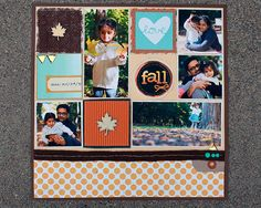 Fall Scrap Layout www.fiskars.com