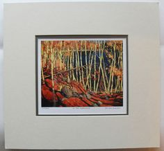 $34.99  TOM Thomson Group OF Seven IN THE Northland Matted Limited Edition Print | eBay
