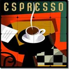 Adams Espresso Coffee Tumbled Marble Tile Mural 16