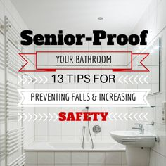 Falls are the leading cause of nonfatal and fatal injuries in elderly adults. Help prevent these injuries at home by senior-proofing your loved one's bathroom. #homesafetytips