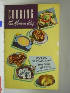 """Vintage """"Cooking The Modern Way"""" Planters Peanut Cook Book 1948"""