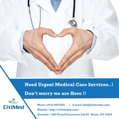 All CitiMedical offices are multilingual, multidisciplinary and staffed with board-certified physicians, as well as licensed physical therapists, if you need urgent medical assistants and specialized health care technicians contact us now at http://citimedny.com/