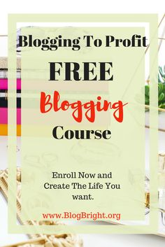 This free Blogging course will give you the base education you need to understand the blogging industry and how to make money doing what you love. This is an excellent beginner's course. Enrolling now!
