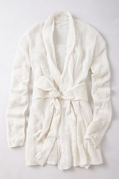 Winding Pointelle Cardigan #anthropologie