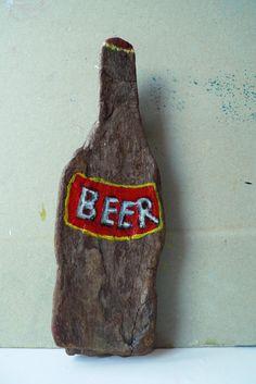 0,33 l Flaschengröße :-) bemaltes Treibholz 2012