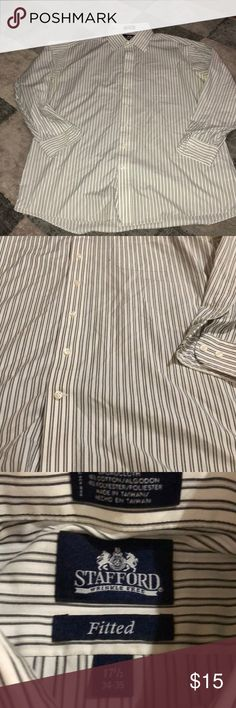 Stafford dress shirt Vertical stripes wrinkle free dress shirt Stafford Shirts Dress Shirts