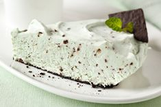 No-Bake Grasshopper Pie-is an easy and delicious recipe that is also nutritious. It is  low in calorie, low in fat, has NO-Cholesterol, low in sodium and low in carbohydrates. Would make a great dessert for a holiday meal as well. A Weight Watchers (3) PointsPlus+ and also a Diabetic recipe. But mostly, it looks delicious.