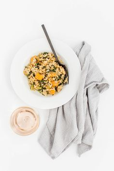 Chicken Risotto With Kale & Butternut Squash | dreamgreendiy.com
