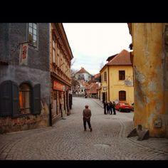 Ceske Krumlov, Czech Republic. Random old man I caught walking down the street. One oft favorite pics. Love it!!