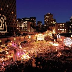 Montreal, Canada.  Jazz festival.  By far one of the world's best musical events.  I wanna go back!