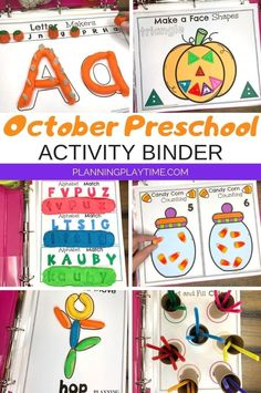 Looking for fun October Preschool Binder for kids? Check out these 8 Hands-On fall theme activities for Preschool or Kindergarten.