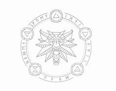 Viktor Hugo Japa The Witcher Symbol Wolf