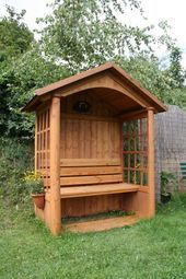Precious Tips for Outdoor Gardens - Modern Garden Arbour Seat, Garden Seating, Garden Chairs, Outdoor Seating, Garden Furniture, Mailbox Garden, Garden Tool Shed, Garden Structures, Backyard Landscaping