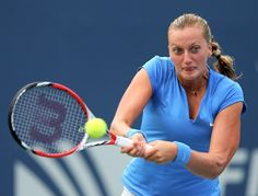 Champion Petra Kvitova of the Czech Republic shows off the power and focus that keeps her in the top ten of women's tennis.