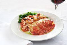 Bellisio's lobster Italian Village, Italian Recipes, Thai Red Curry, Restaurant, Ethnic Recipes, Food, Meal, Diner Restaurant, Essen