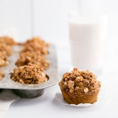 The crunchy macadamia nut topping makes these healthy pumpkin banana muffins outstanding. Easy to make and everyone LOVES them!
