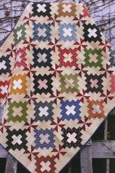 Primitive Folk Art Quilt Pattern  Remember Me by PrimitiveQuilting, $9.00