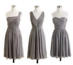 love the idea of different styles. not everyone looks great in one dress style.