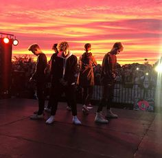 I can't decide which is more beautiful the boys or the sunset